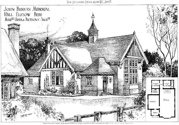 1908 &#8211; John Bunyan Memorial Hall, Elstow, Bedfordshire