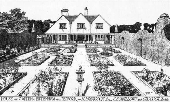 1901 &#8211; House &#038; Garden at Biddenham, Bedfordshire