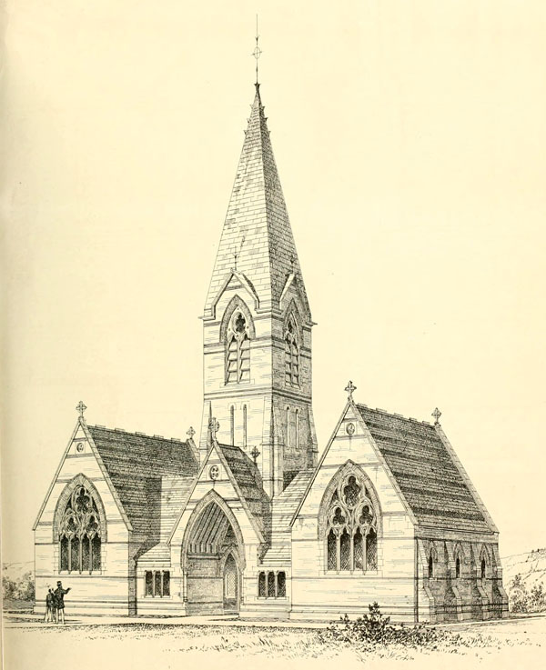 1868 &#8211; Cemetary Chapels, Biggleswade, Bedfordshire