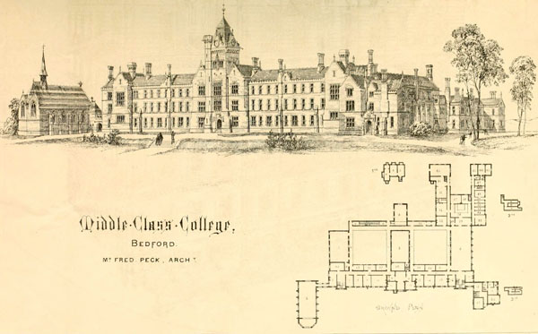 1868 – Middle Class College, Bedford, Bedfordshire