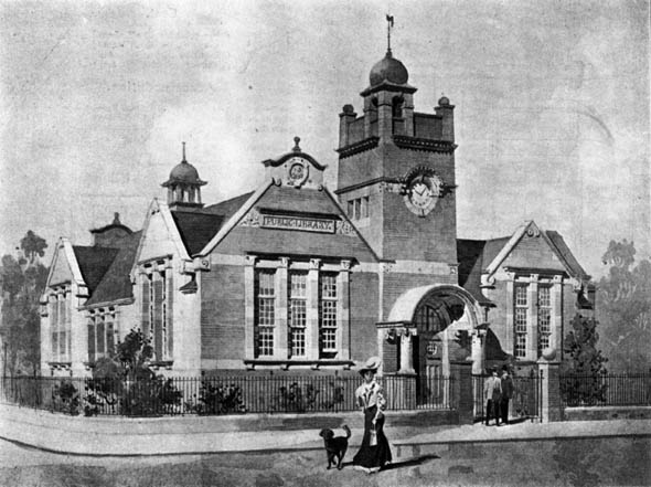 1906 &#8211; Caversham Free Public Library, Berkshire