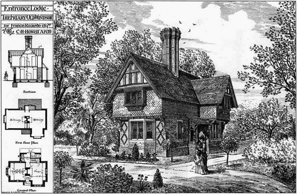 1877 &#8211; Entrance Lodge, The Friary, Old Windsor, Berkshire