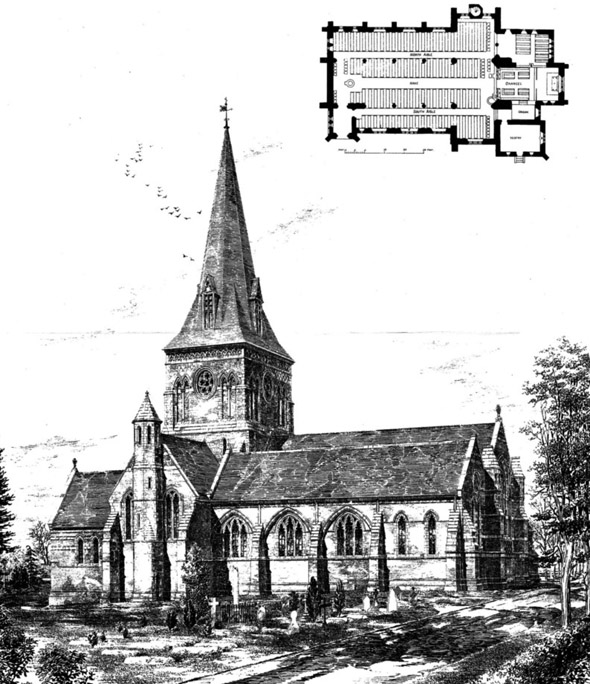 1887 &#8211; Sunningdale Church, Berkshire