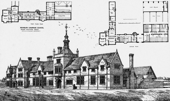 1881 &#8211; New Grammar School, Newbury, Berkshire