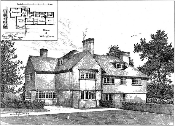 1892 &#8211; House at Wokingham, Berkshire