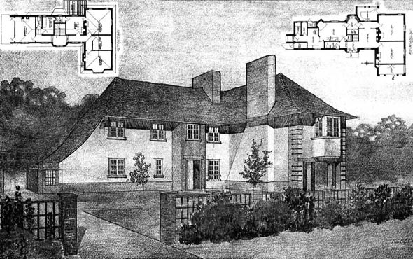 1908 &#8211; House at Beaconsfield, Buckinghamshire