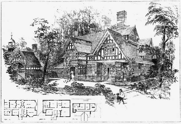 1885 &#8211; Bijou Residence at Hitcham Vale, Taplow, Buckinghamshire