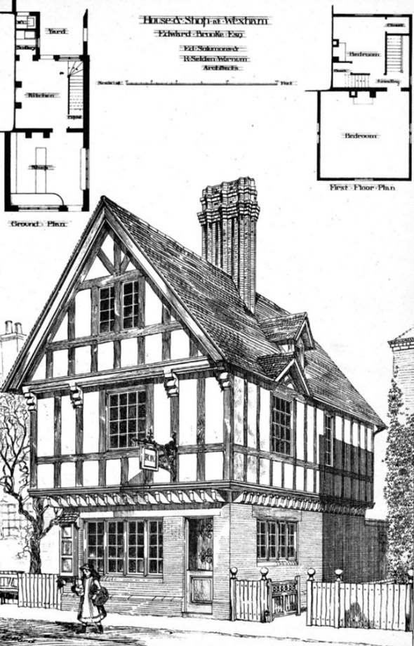 1883 &#8211; House &#038; Shop at Wexham, Buckinghamshire