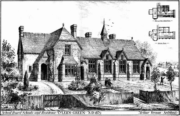 1876 &#8211; Schools &#038; Residence, Tylers Green, Buckinghamshire