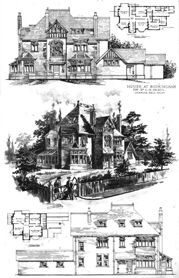 1898 &#8211; House at Buckingham for Dr De&#8217;ath, Buckinghamshire