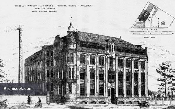 1886 – Hazell Watson & Vineys Printing Works, Aylesbury, Buckinghamshire