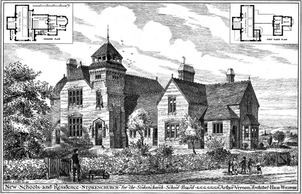 1876 – New Schools & Residence, Stokenchurch , Buckinghamshire