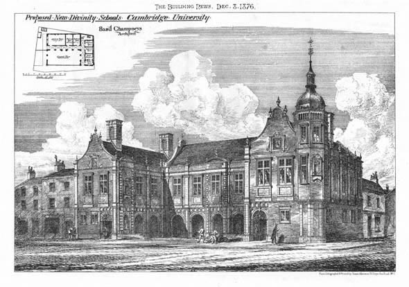 1876 &#8211; Proposed New Divinity School, Cambridge, Cambridgeshire