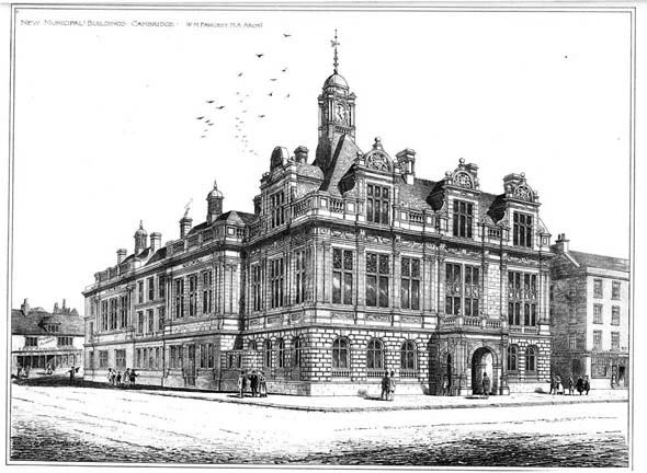 1893 – New Municipal Buildings, Cambridge, Cambridgeshire