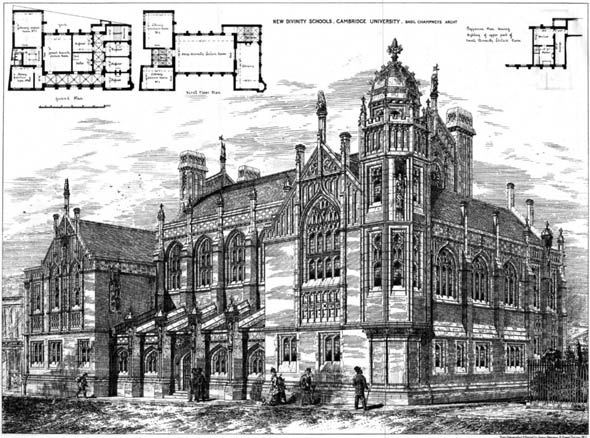 1879 the new divinity schools cambridge cambridgeshire