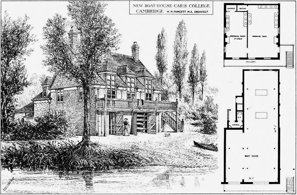 1879 – New Boat House, Caius College, Cambridge, Cambridgeshire