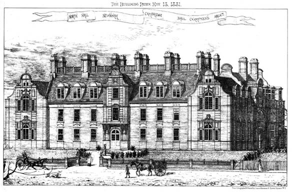 1881 &#8211; North Hall, Newnham, Cambridge, Cambridgeshire