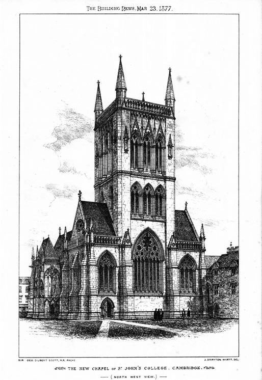 1877 – The New Chapel, St. John's College, Cambridge, Cambridgeshire