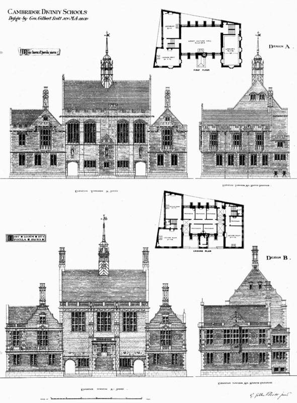 1876 &#8211; Cambridge Divinity Schools, Cambridgeshire