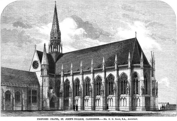 1863 &#8211; New Chapel, St. John&#8217;s College, Cambridge