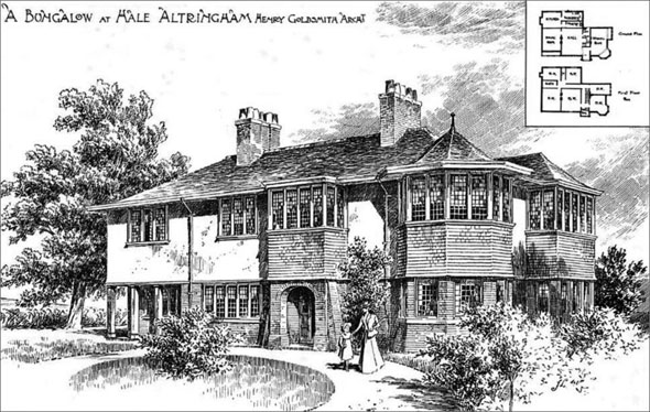 1900 – Bungalow at Hale, Altrincham, Cheshire