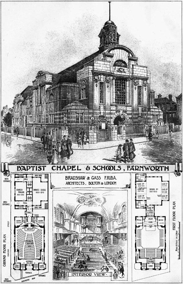 1906 &#8211; Baptist Chapel &#038; Schools, Farnworth, Cheshire