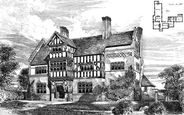 1884 &#8211; House at Oxton, Cheshire