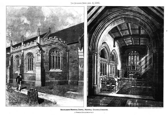 1898 &#8211; Brocklebank Chapel, Heswall Church, Cheshire