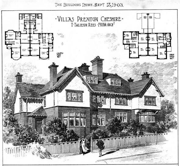 1903 – Villas at Prenton, Cheshire