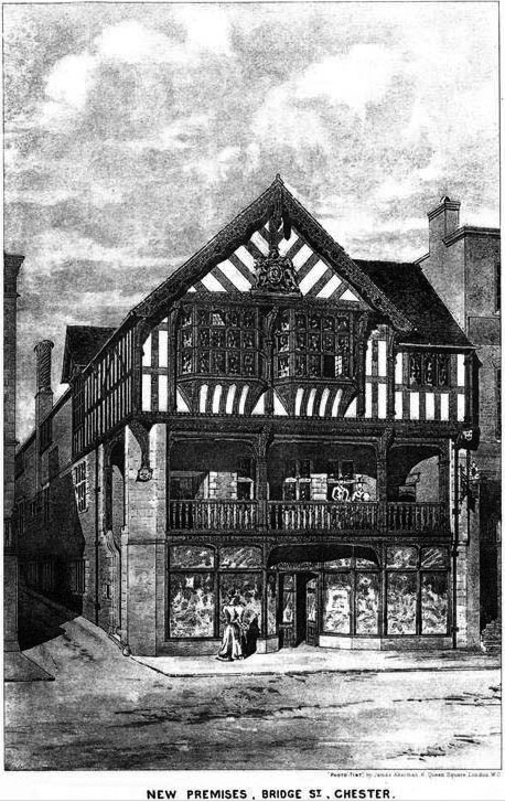 1897 &#8211; New Premises, Bridge Street, Chester, Cheshire