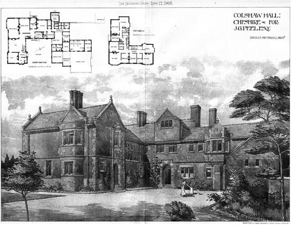 1905 &#8211; Colshaw Hall, Cheshire