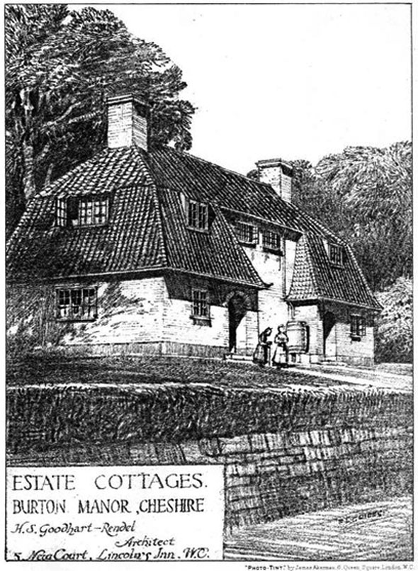1910 &#8211; Estate Cottages, Burton Manor, Cheshire