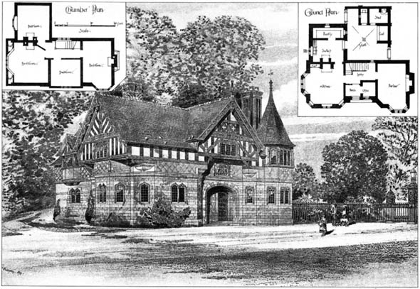 1894 &#8211; Lodge and Gates, Eaton, Cheshire