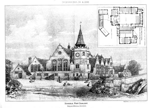 1904 &#8211; Schools, Port Sunlight, Cheshire