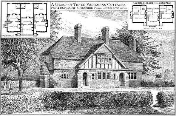 1904 &#8211; Workmen&#8217;s Cottages, Port Sunlight, Cheshire