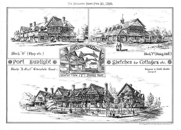 1893 – Sketches for Cottages, Port Sunlight, Cheshire