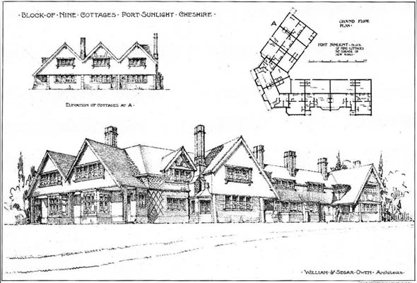 1904 &#8211; Nine Workmens Cottages, Port Sunlight, Cheshire