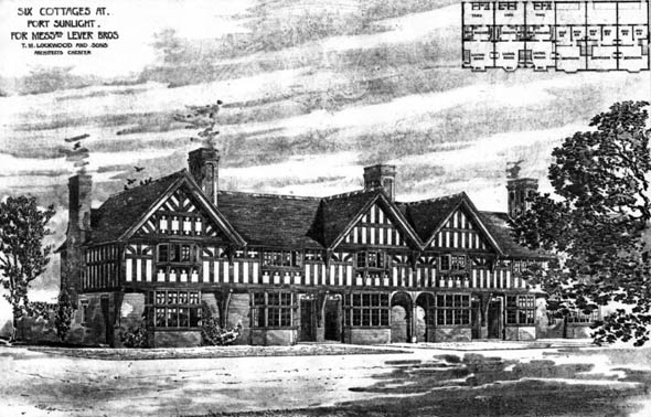 1899 &#8211; Six Cottages, Port Sunlight, Cheshire