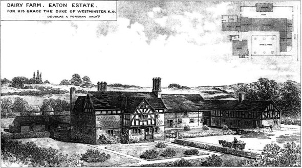 1888 &#8211; Dairy Farm, Eaton Estate, Chester, Cheshire