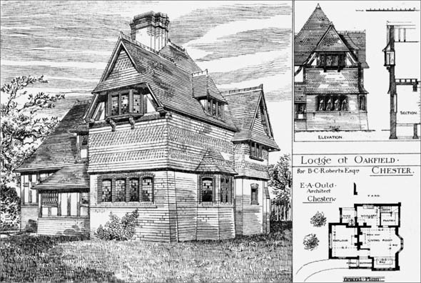 1884 &#8211; Lodge at Oakfield, Chester, Cheshire