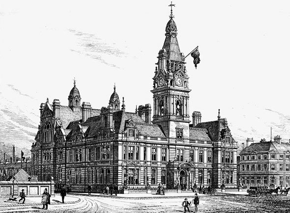 1884 &#8211; Widnes Public Buildings, Cheshire