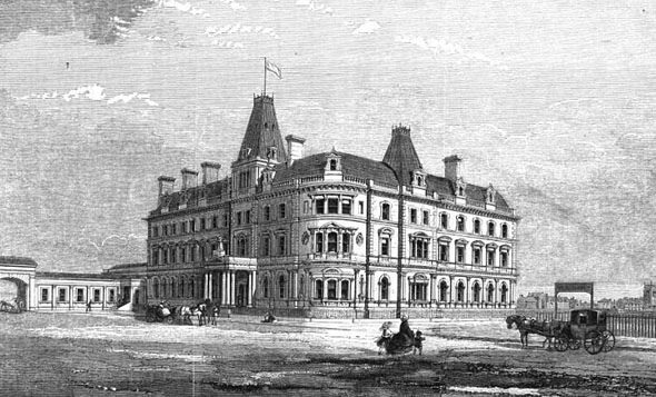 1862 &#8211; The Queen Railway Hotel, Chester, Cheshire