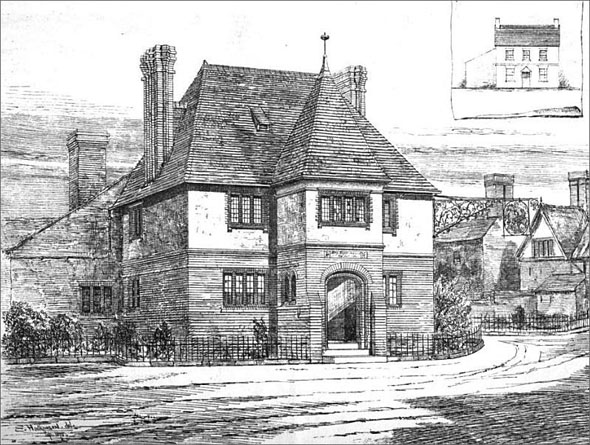 1875 &#8211; St. George and the Dragon Inn, Great Budworth, Cheshire