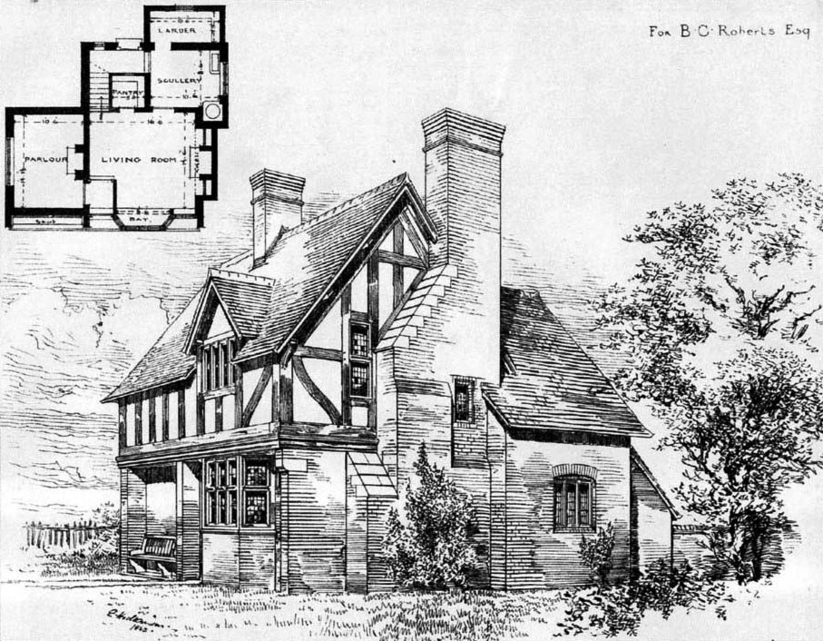 1884 &#8211; Cottage at Oakfield, Chester, Cheshire