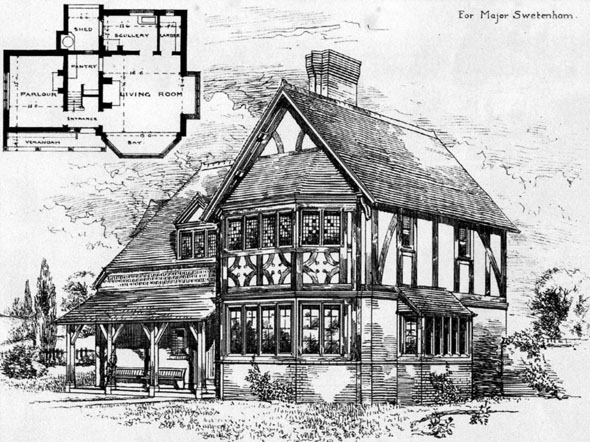 1884 &#8211; Cottage at Moston, Chester, Cheshire