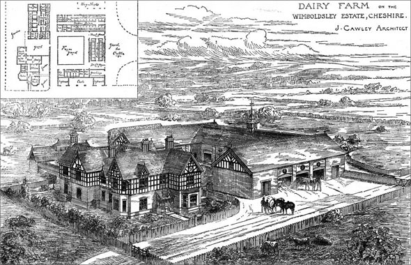 1891 &#8211; Dairy Farm, Wimboldsley Estate, Cheshire