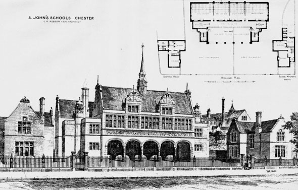 1883 &#8211; St. John&#8217;s Schools, Chester, Cheshire