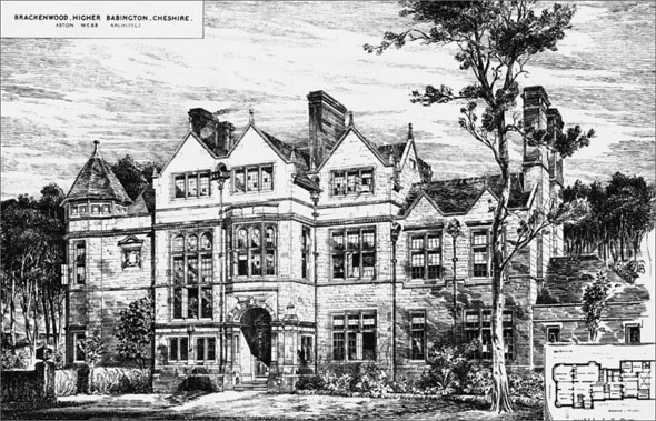 1885 &#8211; Brackenwood House, Higher Bebington, Cheshire