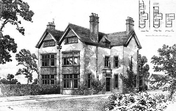 1898 – Two Houses at Hoole Road, Chester, Cheshire