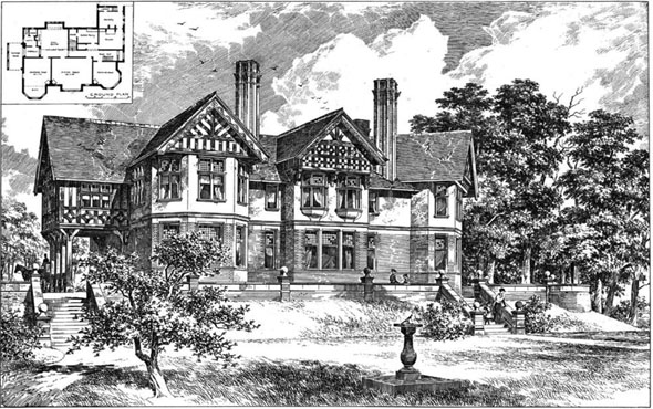 1893 &#8211; House at Hale, Cheshire